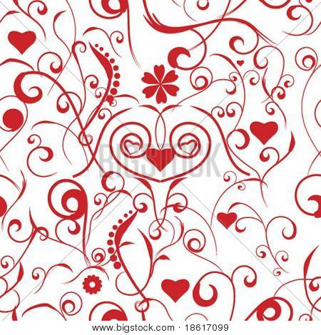Seamless abstract valentine background