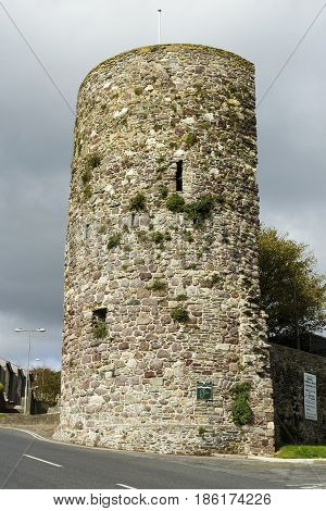 So called Semi-lunar Tower is a part of Waterford medieval fortification.Ireland
