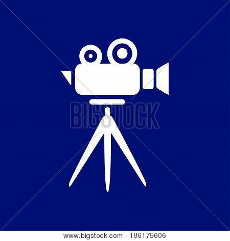 Cinema camera icon. Flat design style. Vector.