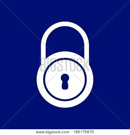 Lock icon.  Flat design style. Access to the user.