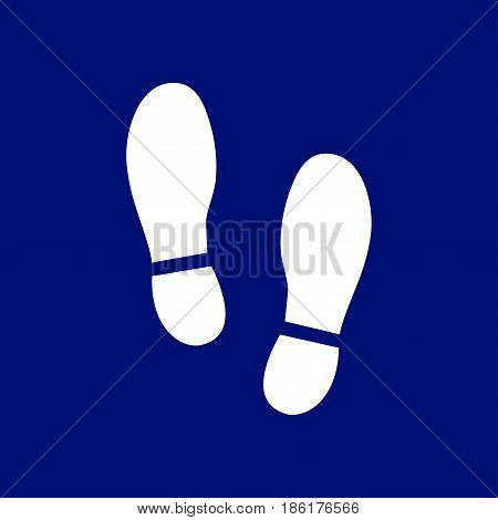 Black Imprint soles shoes icon. Flat design style.