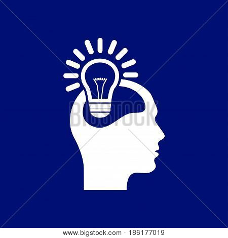 Creative ideas light bulb concept. Ideas icon.