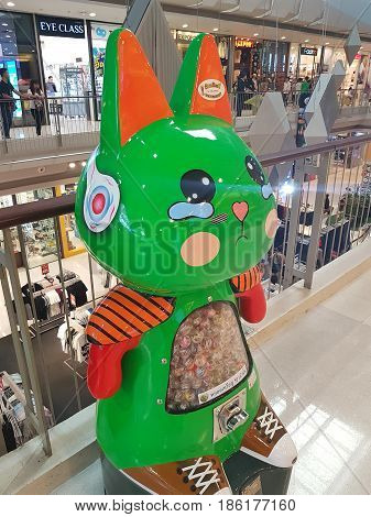 CHIANG RAI THAILAND - FEBRUARY 2 : Kids Toys Vending Machine at Central Plaza on February 2 2017 in Chiang rai Thailand.