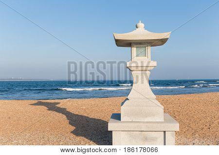White stone lantern