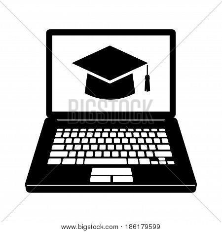 E-learning icon Online learning. isolated on background vector illustration