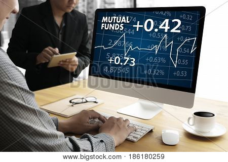 Mutual Funds Finance And Money Concept , Focus On Mutual Fund Investing