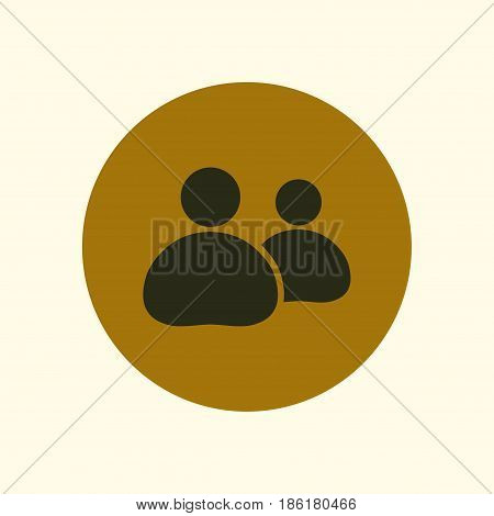 People or social sign icon. The leader and his follower.
