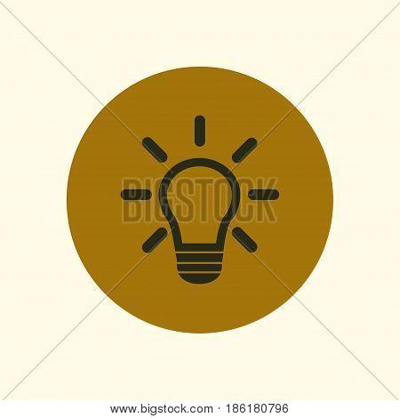 Light lamp sign icon. Idea symbol.Creative thinking and business idea.