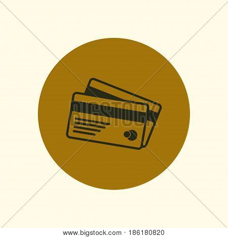Vector credit cards icon. Flat design style.
