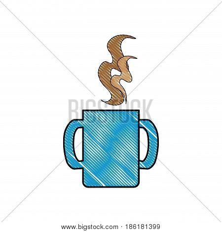 Delicious coffee drink icon vector illustration graphic design