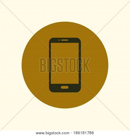 Vector illustration of smartphone icon. Flat design style.