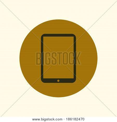 Modern digital tablet PC icon. Flat design icon.