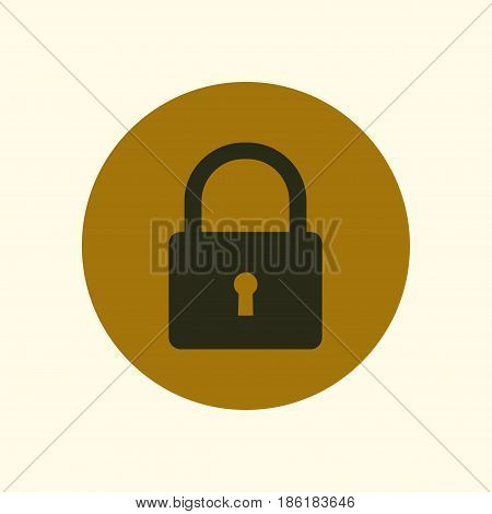 Lock icon. User login or authenticate icon.  Flat design style.