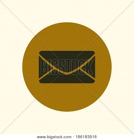 Flat  icon of letter.Mail icon. Vector symbol.