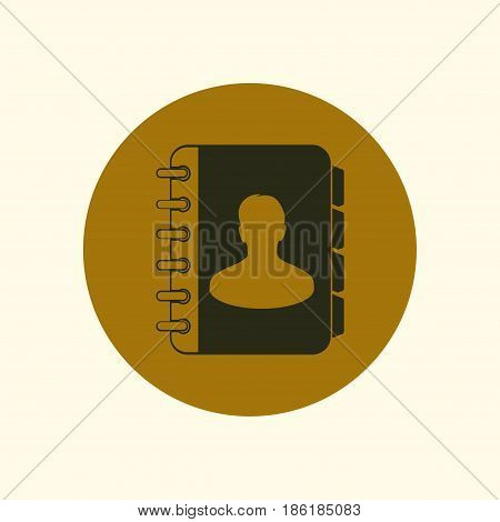 Address book icon vector. Flat design style.