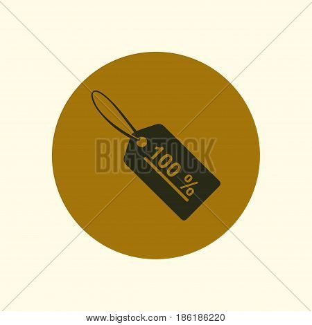 Sale tags icon. Flat design style. Badge tag, a price tag, discount