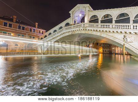 Rialto Bridge, Narrow Canals and Historic Architecture in Venice Italy