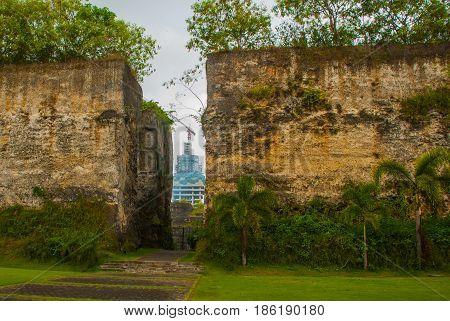 Garuda Wisnu Kencana Cultural Park. The Construction Of The Monument Of Vishnu. Bali. Indonesia.