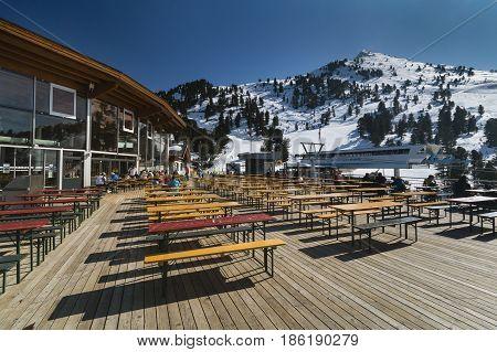 Hochoetz Mountain Restaurant, Austria, Editorial