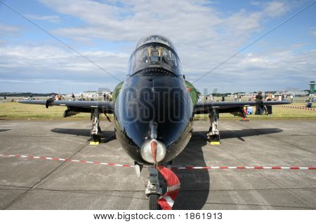 Nose View Of Bae Hawk Jet Plane