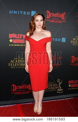 LOS ANGELES - APR 26:  Camryn Grimes at the NATAS Daytime Emmy Nominees Reception at the Hollywood Museum on April 26, 2017 in Los Angeles, CA