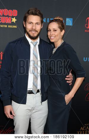 LOS ANGELES - APR 26:  Scott Clifton, Nicole Lampson at the NATAS Daytime Emmy Nominees Reception at the Hollywood Museum on April 26, 2017 in Los Angeles, CA