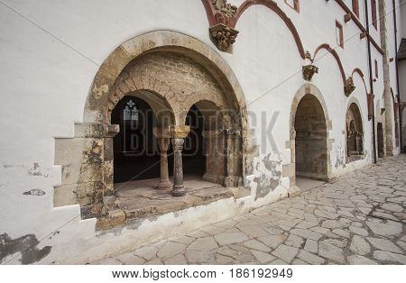 Partial View Of The Monastery Eberbach Cloister Eltville Am Rhein Germany