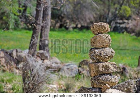 Milestone Granite Stone Pile Cairn