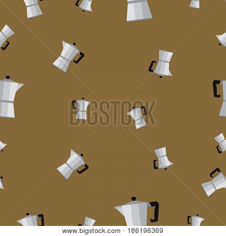 Seamless pattern with coffee percolator vector illustration