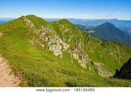 Route Leading Along The Green Stony Ridge