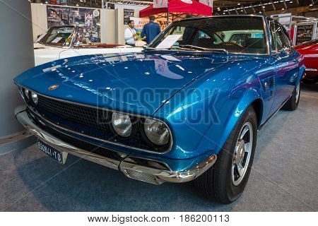STUTTGART GERMANY - MARCH 02 2017: Sports car Fiat Dino 2400 Coupe 1971. Europe's greatest classic car exhibition