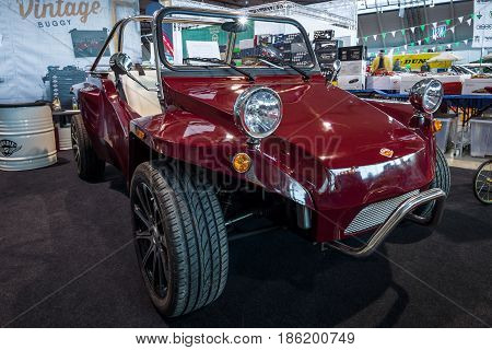 STUTTGART GERMANY - MARCH 02 2017: Vintage Buggy by Quadix. Europe's greatest classic car exhibition