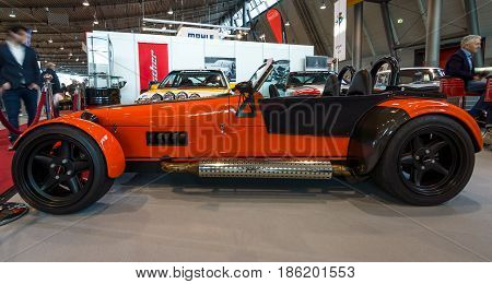STUTTGART GERMANY - MARCH 02 2017: Sports car Irmscher Roadster Turbo 2011. Europe's greatest classic car exhibition