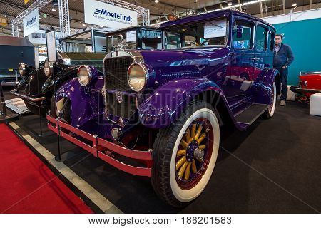 STUTTGART GERMANY - MARCH 02 2017: Vintage car Dodge Brothers Standard Six 1928. Europe's greatest classic car exhibition