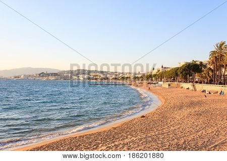 Cannes Beach Day View, France.
