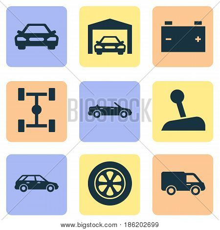 Automobile Icons Set Vector & Photo (Free Trial)   Bigstock
