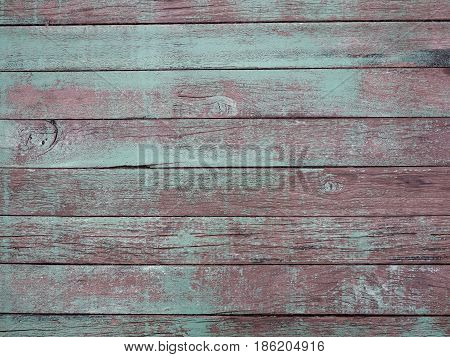 Wooden horizontal striped surface of green color texture or background