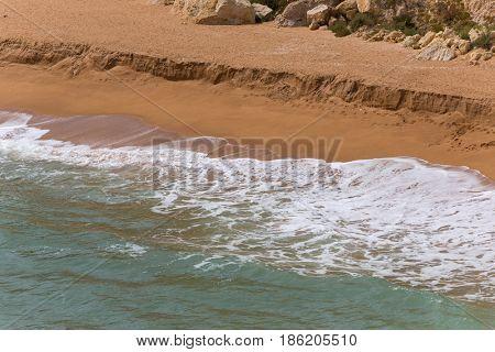 Senhora da Rocha Beach, in the fishing village of Armacao de Pera, Algarve, Portugal