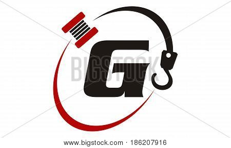 This image describe about Crane Hook Towing Letter G