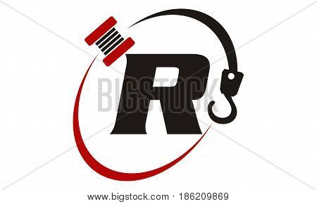 This image describe about Crane Hook Towing Letter R