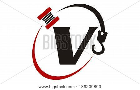 This image describe about Crane Hook Towing Letter V