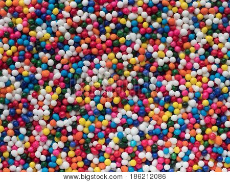 Colorful Nonpareils for baking or candy background