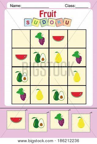 picture sudoku for kids fine motor worksheet homework