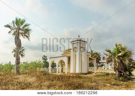 Chapel in Ayia Napa against the blue sky