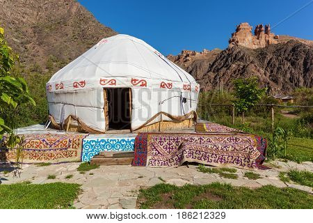 Charyn Canyon eco camp stay in yurts travel to Kazakhstan Yurt is the national dwelling of nomads