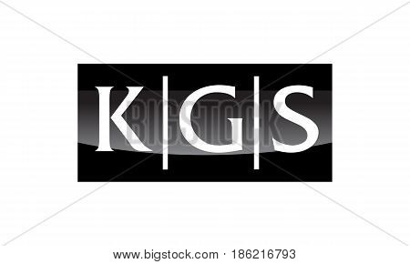 This image describe about Modern Logo Solution Letter KGS