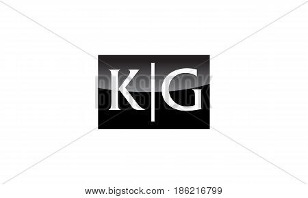 This image describe about Modern Logo Solution Letter KG