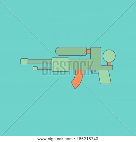 flat icon on stylish background Kids toy water gun