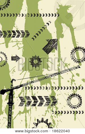 Abstract industrial grunge background