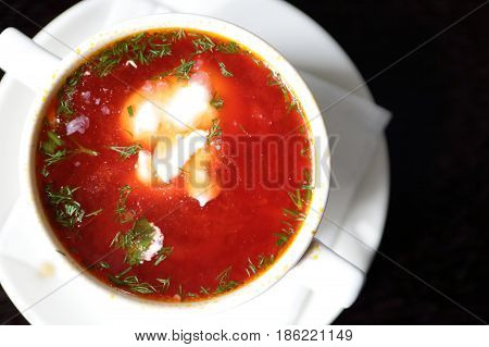 Plate With Borscht